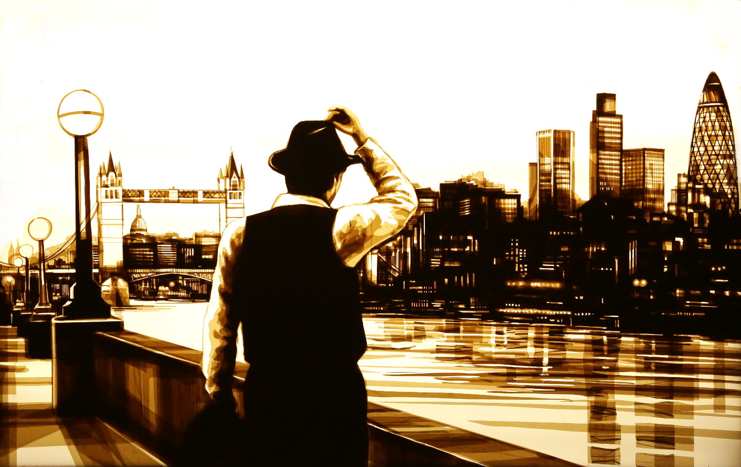 max zorn, tape art, max zorn London, scotch tape