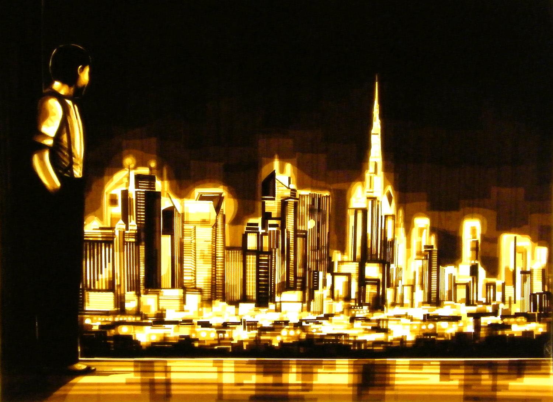 tape art, max zorn, Dubai