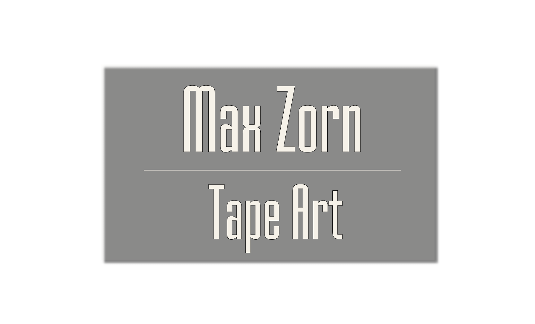 Tape Art, Kunst mit Klebeband, art du ruban, by Max Zorn