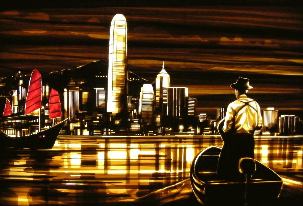 Tape art by Max Zorn at the Affordable art fair Hong kong