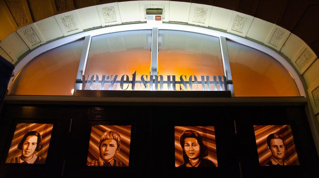 Max Zorn, tape art, museum, verzets museum, amsterdam light festival